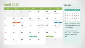 2020 Calendar Powerpoint Template intended for Microsoft Powerpoint Calendar Template