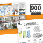 900 Place / 6-Panel Brochurevictor Suarez On Dribbble inside 6 Panel Brochure Template