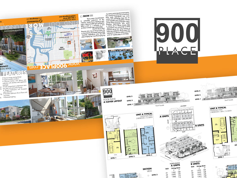 900 Place / 6 Panel Brochurevictor Suarez On Dribbble Inside 6 Panel Brochure Template