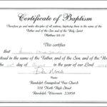Baptism Certificate Template Word – Heartwork Throughout Christian Baptism Certificate Template