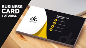 Business Card Design In Photoshop Cs6 Tutorial   Learn Photoshop Front within Photoshop Cs6 Business Card Template