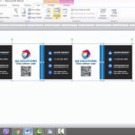 Business Card Template For Microsoft Word Pertaining To Business Cards Templates Microsoft Word