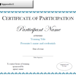 Certificate Of Participation Sample Free Download Pertaining To Participation Certificate Templates Free Download