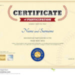 Certificate Of Participation Template In Baseball Sport In Participation Certificate Templates Free Download