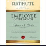 Certificate Template Employee Of The Month Pertaining To Employee Of The Month Certificate Template