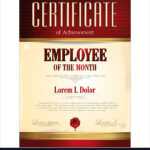 Certificate Template Employee Of The Month Within Employee Of The Month Certificate Template