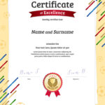 Certificate Template In Football Sport Theme With throughout Football Certificate Template