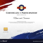 Certificate Template In Rugby Sport Theme With With Participation Certificate Templates Free Download