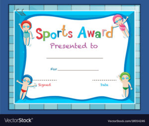 Certificate Template With Kids Swimming throughout Swimming Certificate Templates Free