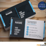Creative And Clean Business Card Template Psd   Psdfreebies in Templates For Visiting Cards Free Downloads