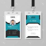 Creative Employee Id Card Template With Work Id Card Template