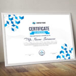 Cubes Landscape Certificate Template 000838 - Template Catalog pertaining to Landscape Certificate Templates