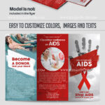 Day Of Fight With Aids Psd Brochure intended for Hiv Aids Brochure Templates