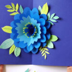 Diy Happy Mother's Day Card Pop Up Flower (Free Templates!) With Templates For Pop Up Cards Free