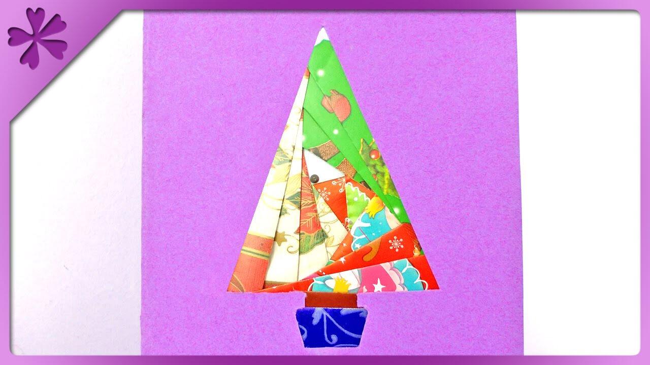 Diy Iris Folding Christmas Card (Eng Subtitles) - Speed Up #152 With Iris Folding Christmas Cards Templates