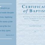 ❤️free Sample Certificate Of Baptism Form Template❤️ Inside Christian Baptism Certificate Template