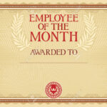 Employee Of The Month – Certificate Template Inside Employee Of The Month Certificate Template