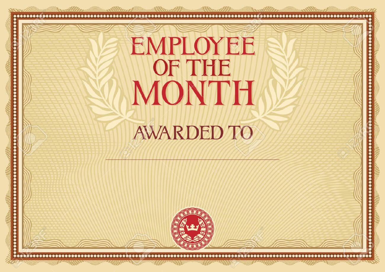 Employee Of The Month - Certificate Template Inside Employee Of The Month Certificate Template