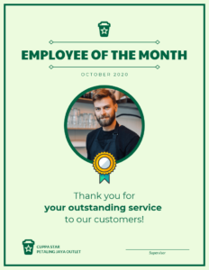 Employee Of The Month Certificate Template intended for Employee Of The Month Certificate Template