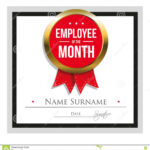 Employee Of The Month Certificate Template Stock Vector Intended For Employee Of The Month Certificate Template