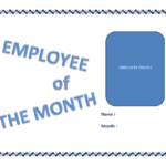 Employee Of The Month Certificate Template   Templates At Within Employee Of The Month Certificate Template