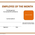 Employee Of The Month Template   E Commercewordpress Intended For Employee Of The Month Certificate Template