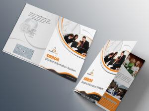Free Bi-Fold Brochure Psd On Behance inside 2 Fold Brochure Template Psd