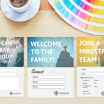 Free Church Connection Cards - Beautiful Psd Templates throughout Church Visitor Card Template Word