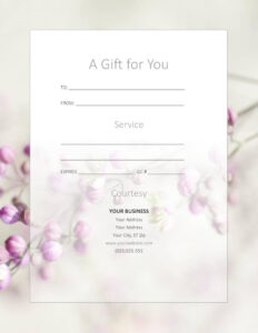 Free Gift Certificate Templates For Massage And Spa regarding Massage Gift Certificate Template Free Printable
