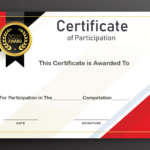 Free Sample Format Of Certificate Of Participation Template Regarding Participation Certificate Templates Free Download