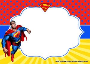 Free Superhero Superman Birthday Invitation Templates – Bagvania intended for Superman Birthday Card Template