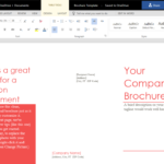 How To Create A Trifold Brochure In Word Online With Regard To Brochure Template On Microsoft Word