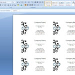 How To Create Business Cards In Microsoft Word 2007 In Business Cards Templates Microsoft Word