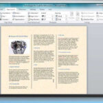 How To Make A Tri Fold Brochure In Microsoft® Word Intended For Brochure Template On Microsoft Word