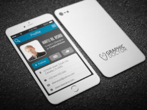Iphone Business Card Template On Behance pertaining to Iphone Business Card Template