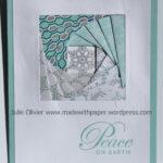 Iris Folding Square With Winter Frost Designer Series Paper Inside Iris Folding Christmas Cards Templates