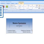 Microsoft Word – How To Make And Print Business Card 1/2 Pertaining To Business Cards Templates Microsoft Word