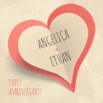 Simple Wedding Anniversary Card Template with regard to Template For Anniversary Card