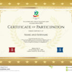 Sport Theme Certificate Of Participation Template Stock Pertaining To Participation Certificate Templates Free Download