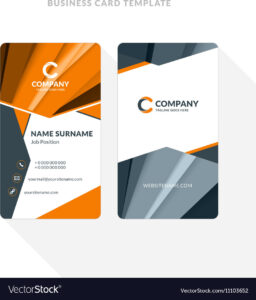Vertical Double-Sided Business Card Template With intended for Double Sided Business Card Template Illustrator