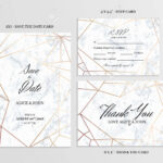 Wedding Set. Save The Date, Thank You And R.s.v.p. Cards Template.. with regard to Template For Rsvp Cards For Wedding