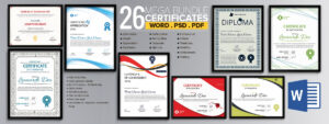 Word Certificate Template - 53+ Free Download Samples regarding Free Certificate Templates For Word 2007